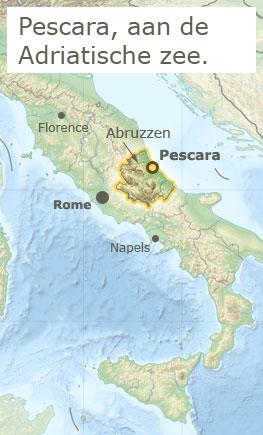 Kaart Pescara, Sicilie en Italie