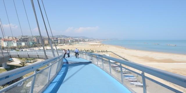 Pescara strand en boulevard